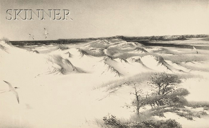 Stow Wengenroth (American, 1906-1978)      Dunes and Terns