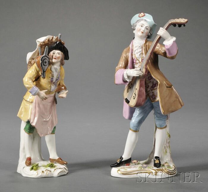 Two Porcelain Figures of Men