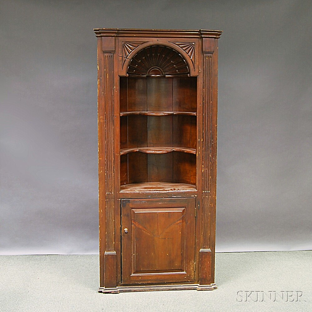 Carved Pine Cupboard
