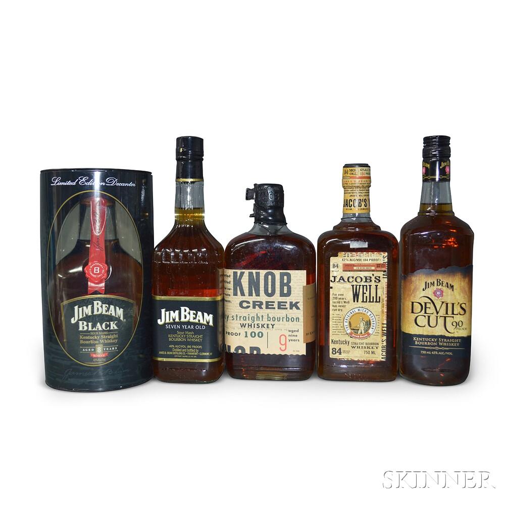 Mixed Bourbon, 5 750ml bottles