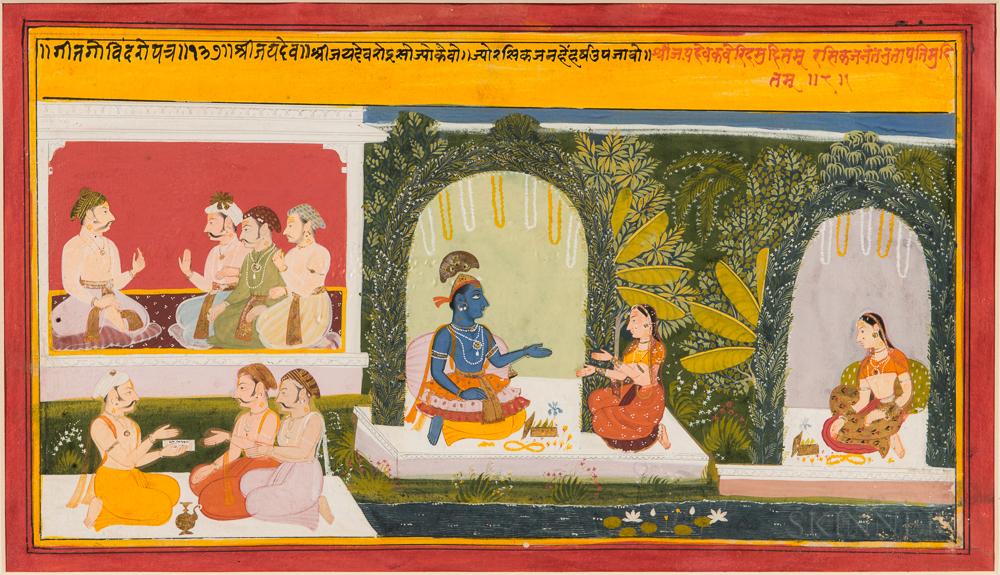 Painting of a Scene from a Gita Govinda