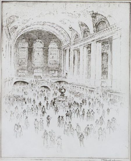 Joseph Pennell (American,1860-1926)  The Concourse, Grand Central, New York