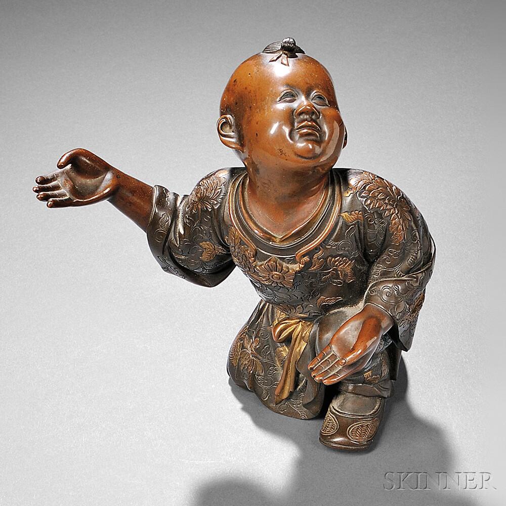 Miyao Bronze Sculpture of a Boy
