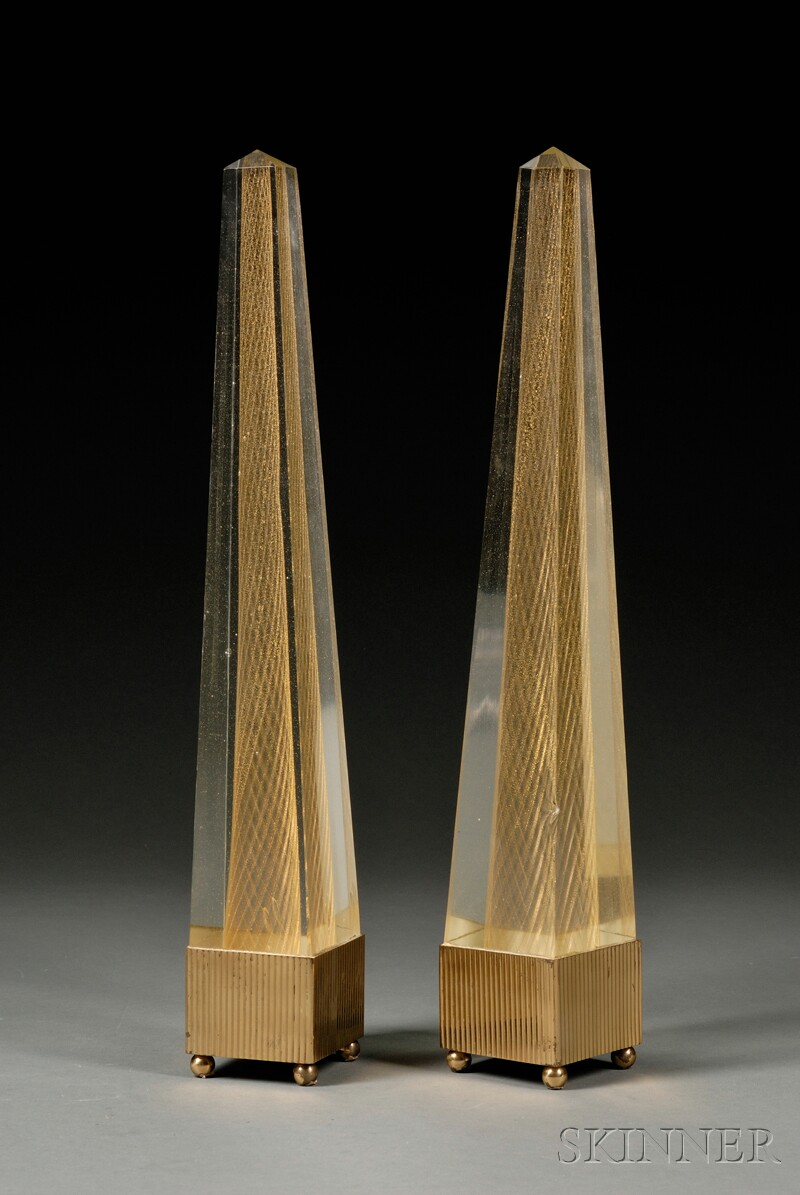 Pair of Decorative Obelisks