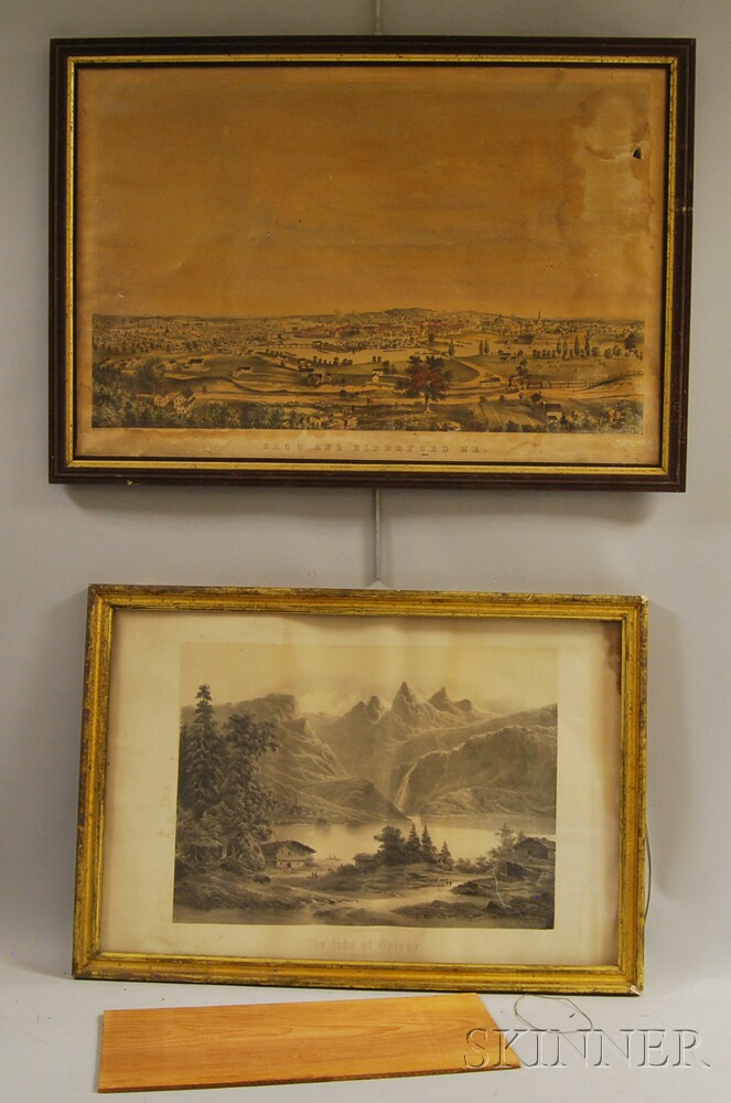 Four Framed Landscape and Topographical Prints