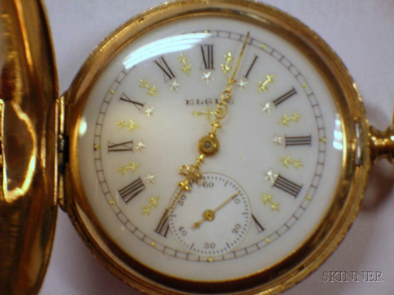 Two 14kt Gold Lady's Hunter Case Savonnette Elgin Pocket Watches