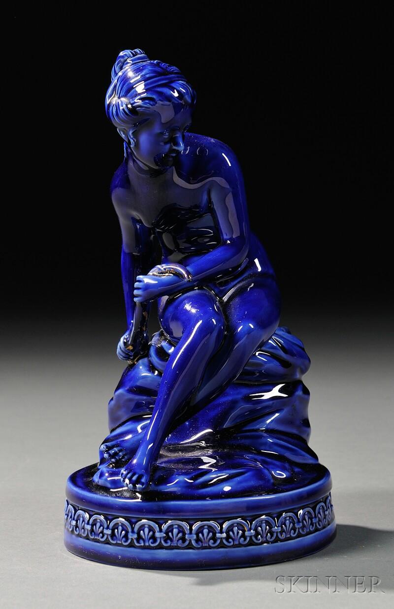 Wedgwood Cobalt Blue-glazed Figure of Psyche