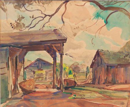 William Lester Stevens (American, 1888-1969)    Barnyard