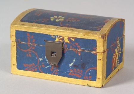 Miniature Wallpaper Covered Dome-top Box