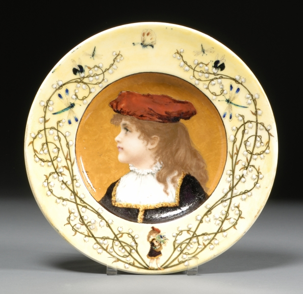 Theodore Deck Glazed Earthenware Portrait Charger