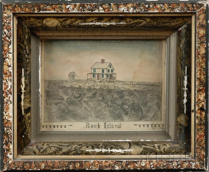American School, 19th Century      Rock Island.