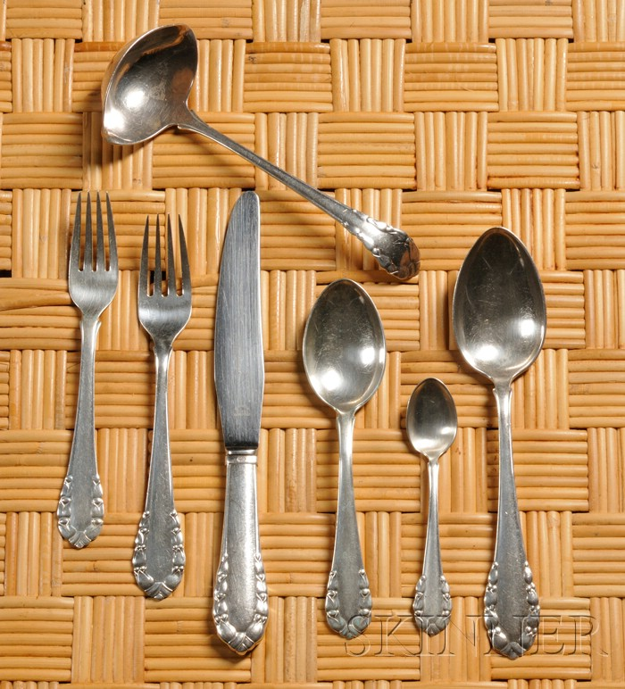 Georg Jensen Silver Flatware and Serving Pieces