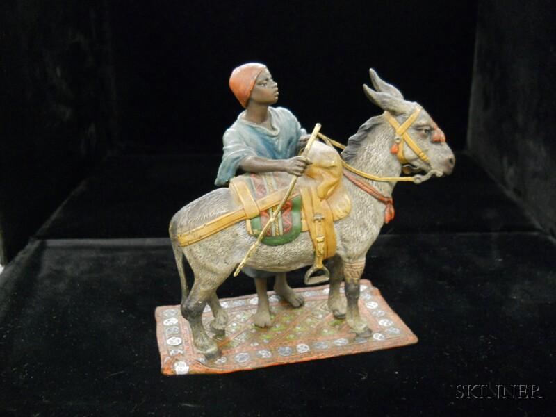 Two Franz Bergman Cold-painted Bronze Figures