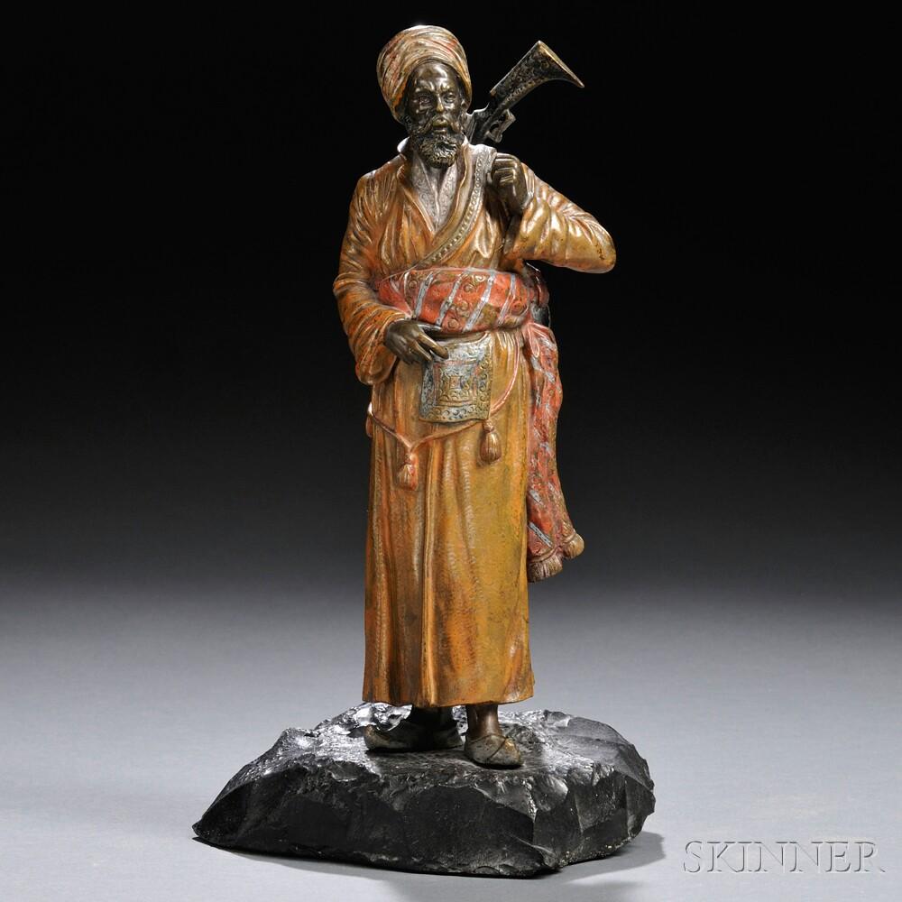 Franz Bergman Praying Arab - Austrian Bronze - Hickmet