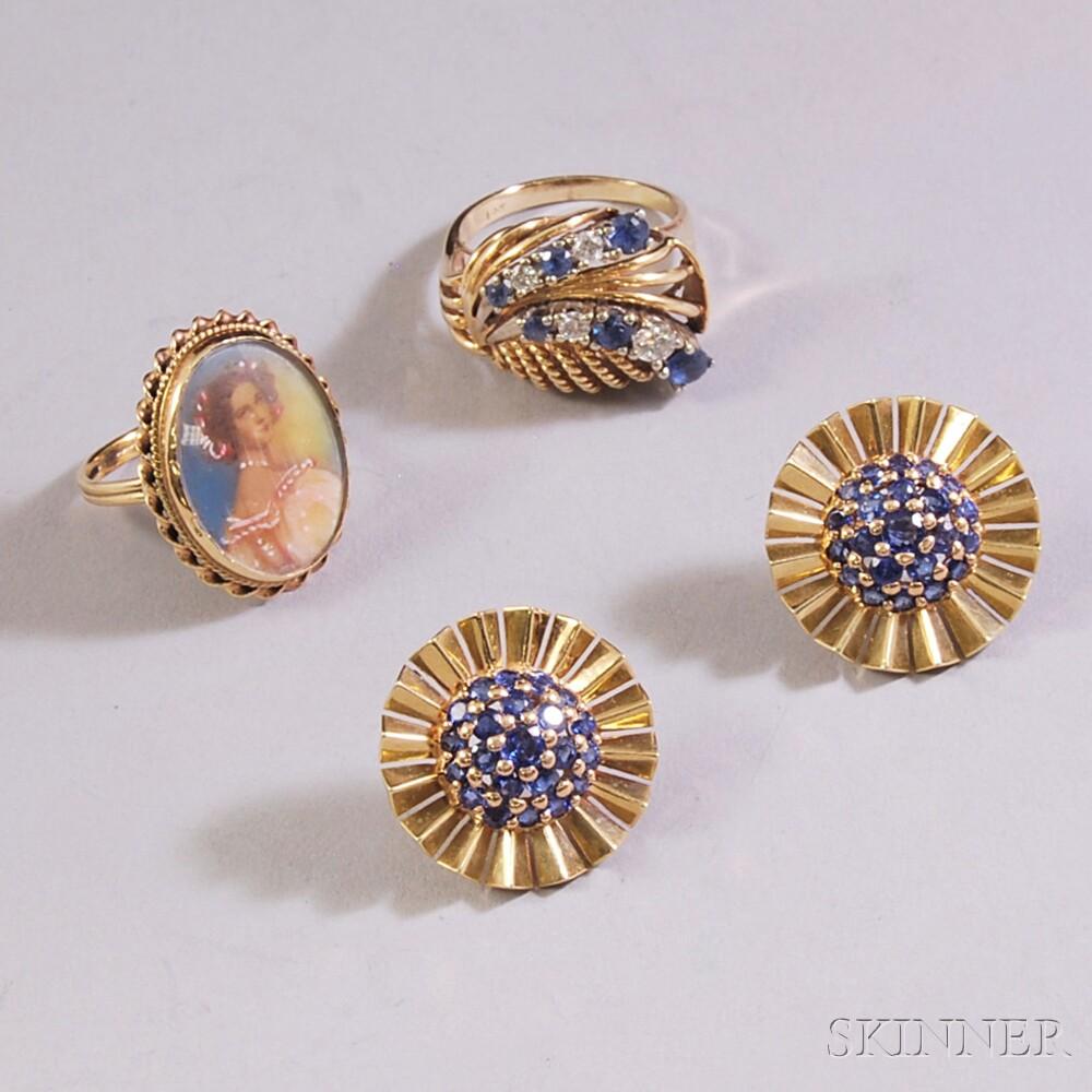 Three Gold Jewelry Items