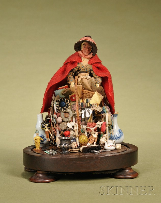 Wax Peddler Lady in Dome