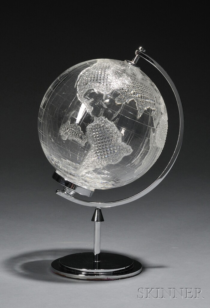 Waterford Crystal Globe on Stand
