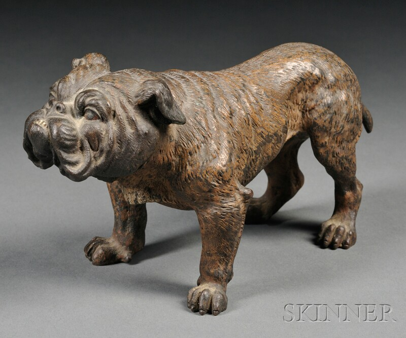 Small Cold Painted Bronze Figure of a Bulldog