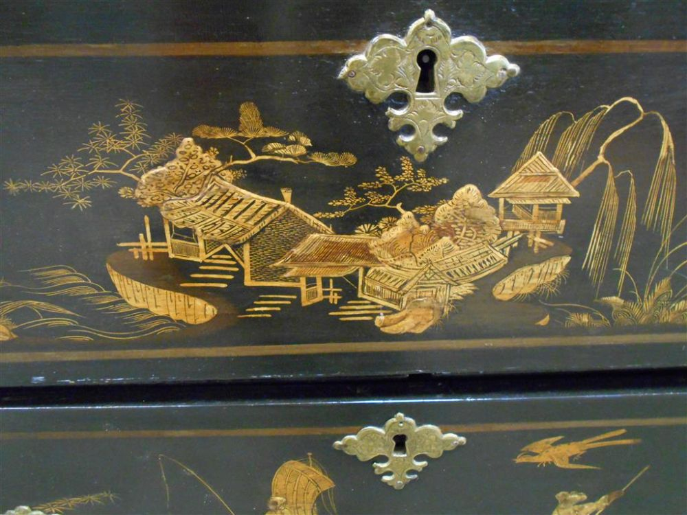 Georgian-style Japanned Chest of Drawers