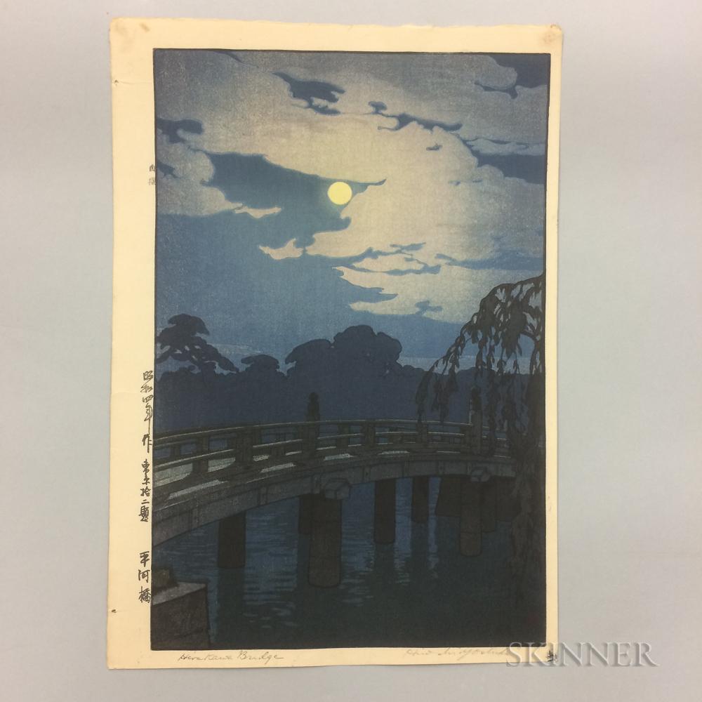 Hiroshi Yoshida (1876-1950), Hirakawa Bridge