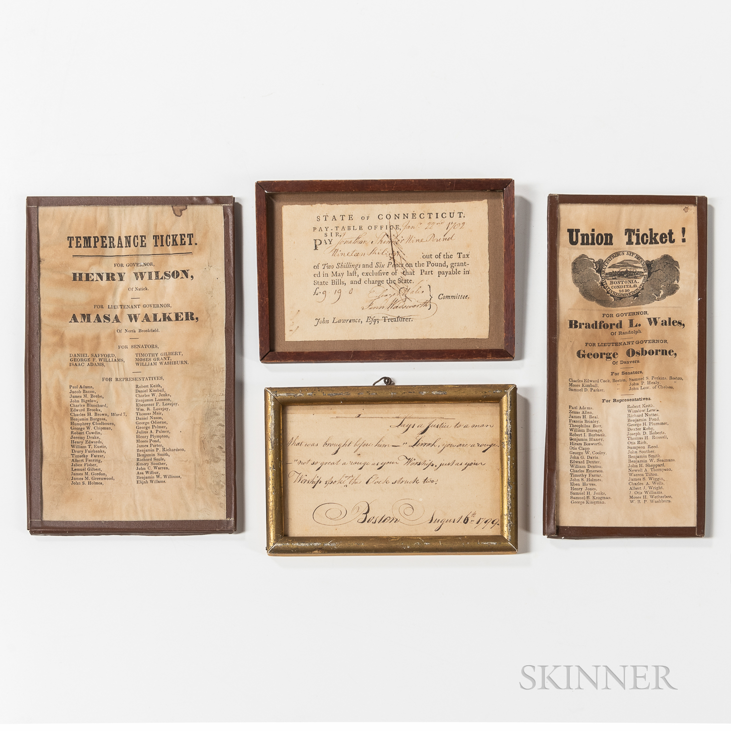 Four Pieces of Early Ephemera