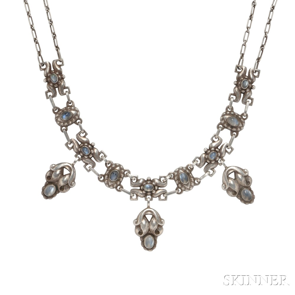Sterling Silver and Moonstone Necklace