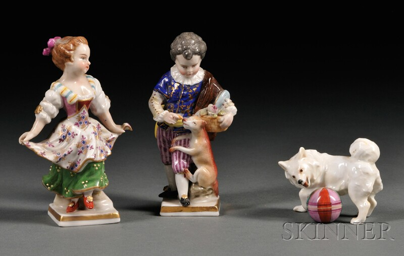 Three Small Continental Porcelain Figures
