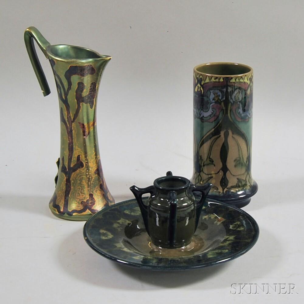 Three Art Pottery Items