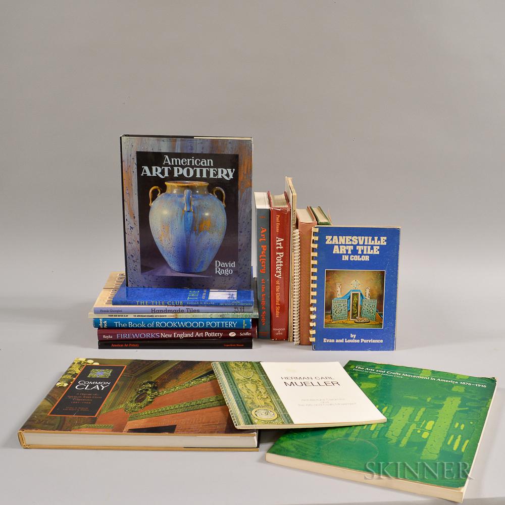 Nineteen Books on American Art Pottery