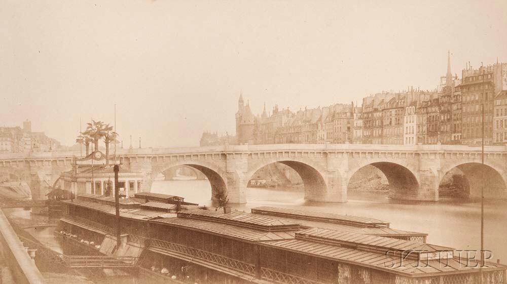 Bisson Frères (French, fl. 1852-1863)      View of Le Pont Neuf and Île de la Cité from Le Quai du Louvre
