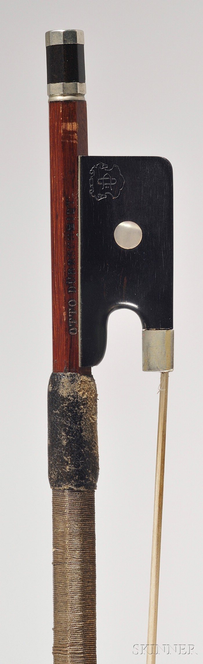 Silver Mounted Violin Bow, Otto Durrschmidt