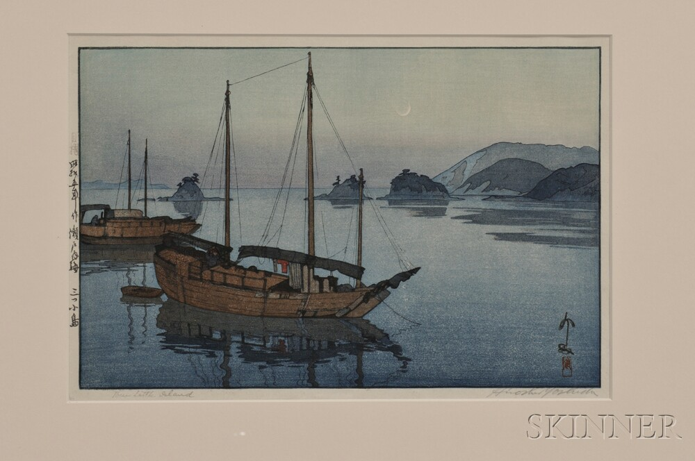 Hiroshi Yoshida (1876-1950), Two Color Woodblock Prints