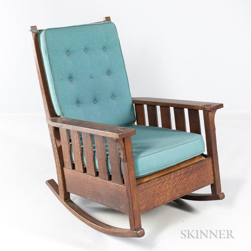 Large Gustav Stickley Rocking Chair