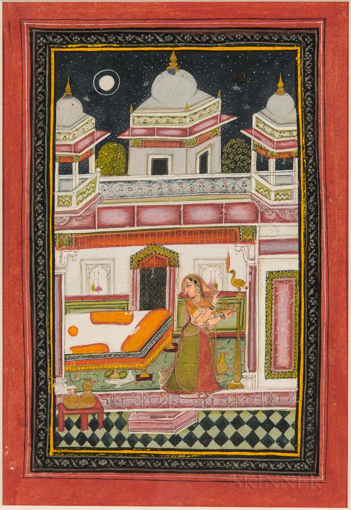 Painting of Desavarani Ragini from a Ragamala Series