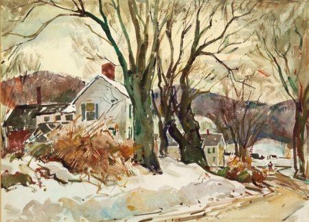 William Lester Stevens (American, 1888-1969)    Snowfall