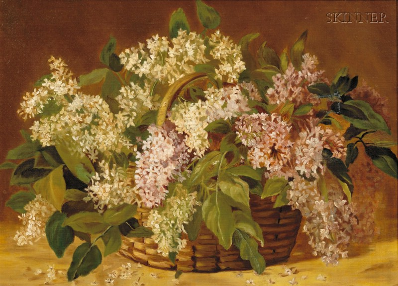 Attributed to Jonas Joseph LaValley (American, 1858-1930)      Basket of Flowers