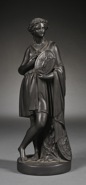 Wedgwood Black Basalt Figure of Scotland