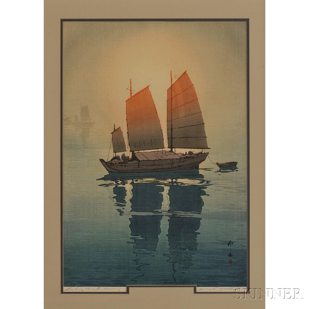 Hiroshi Yoshida (1876-1950), Sailing Boats, Morning