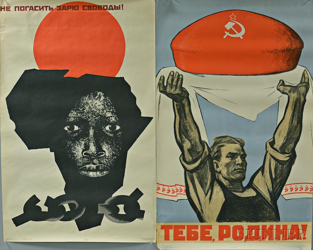 Three Soviet Propaganda Posters