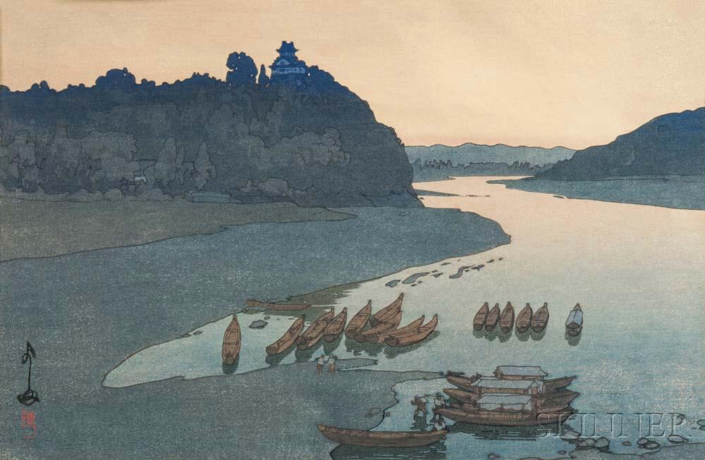 Hiroshi Yoshida (1876-1950), Kiso River