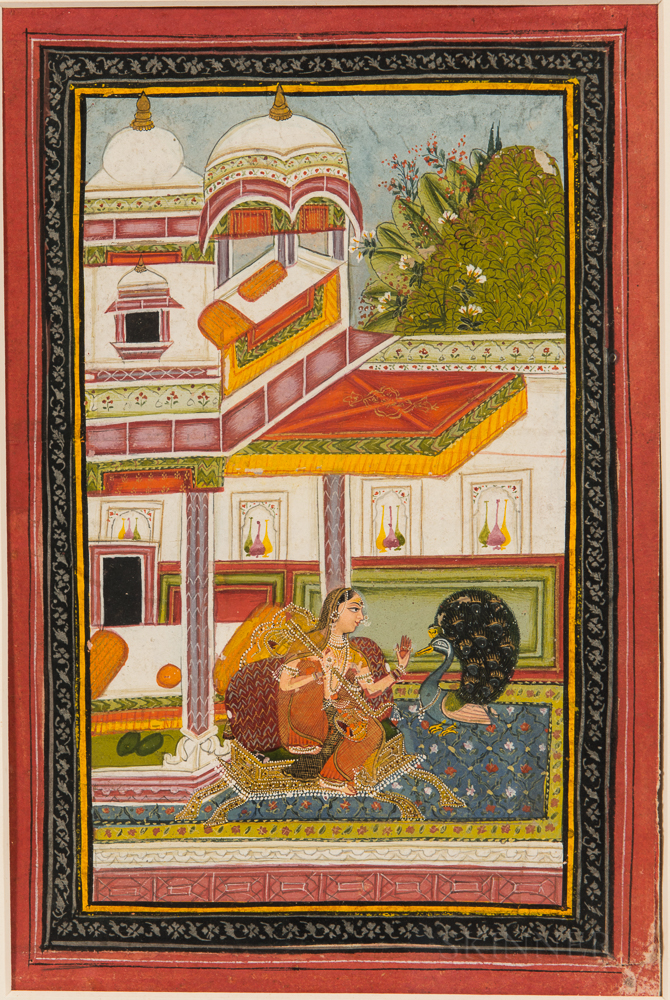 Painting of Gujari Ragini from a Ragamala Series