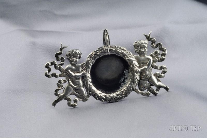 Edwardian Sterling Silver Watch Holder, Geo. W. Shiebler & Co.