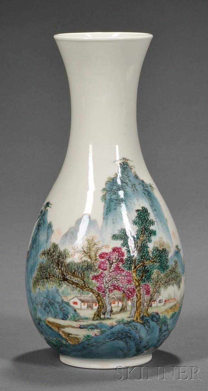 Porcelain Yuhuchun Vase