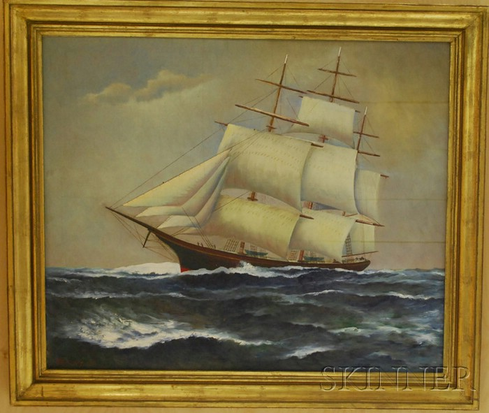 American School, 20th Century      Portrait of a Ship.
