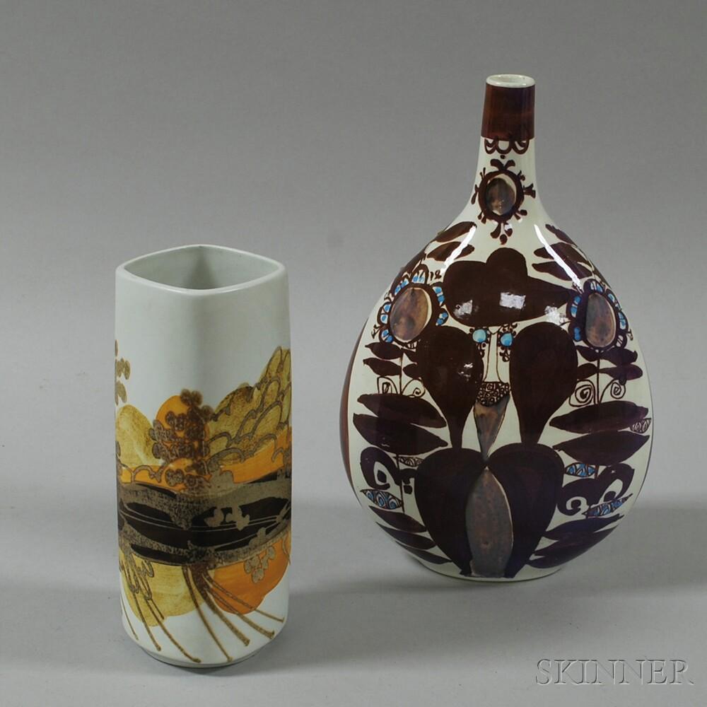 Two Royal Copenhagen Mid-Century Vases