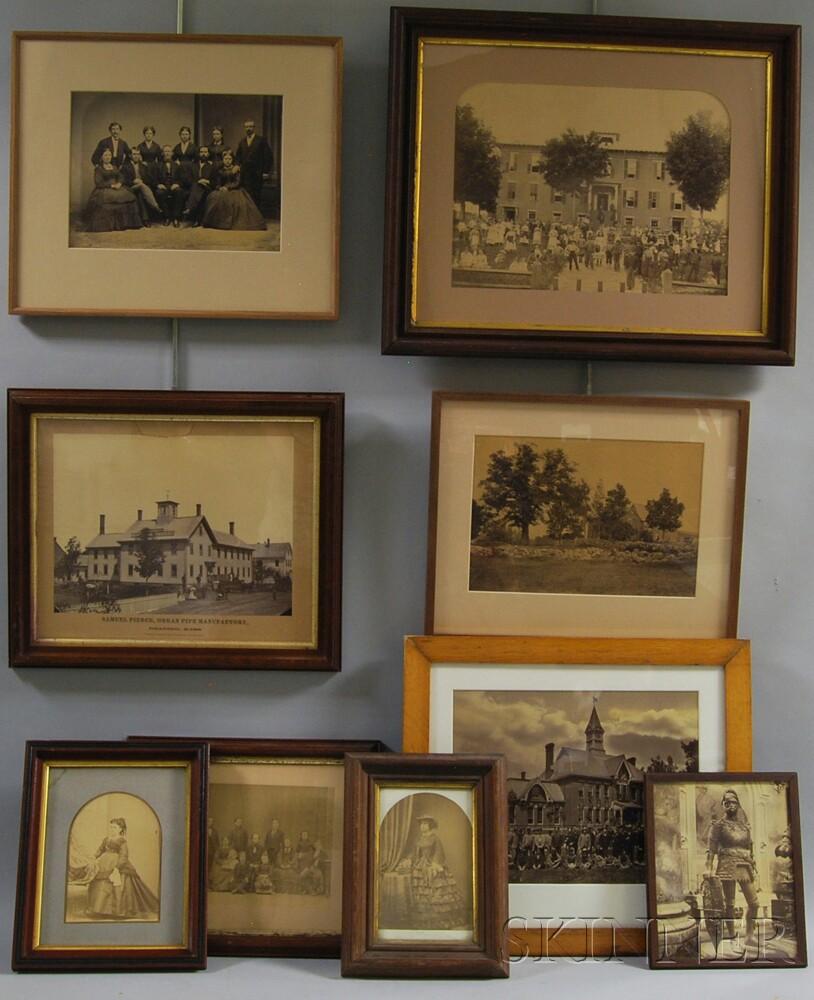 Nine Framed Antique and Vintage Photographs