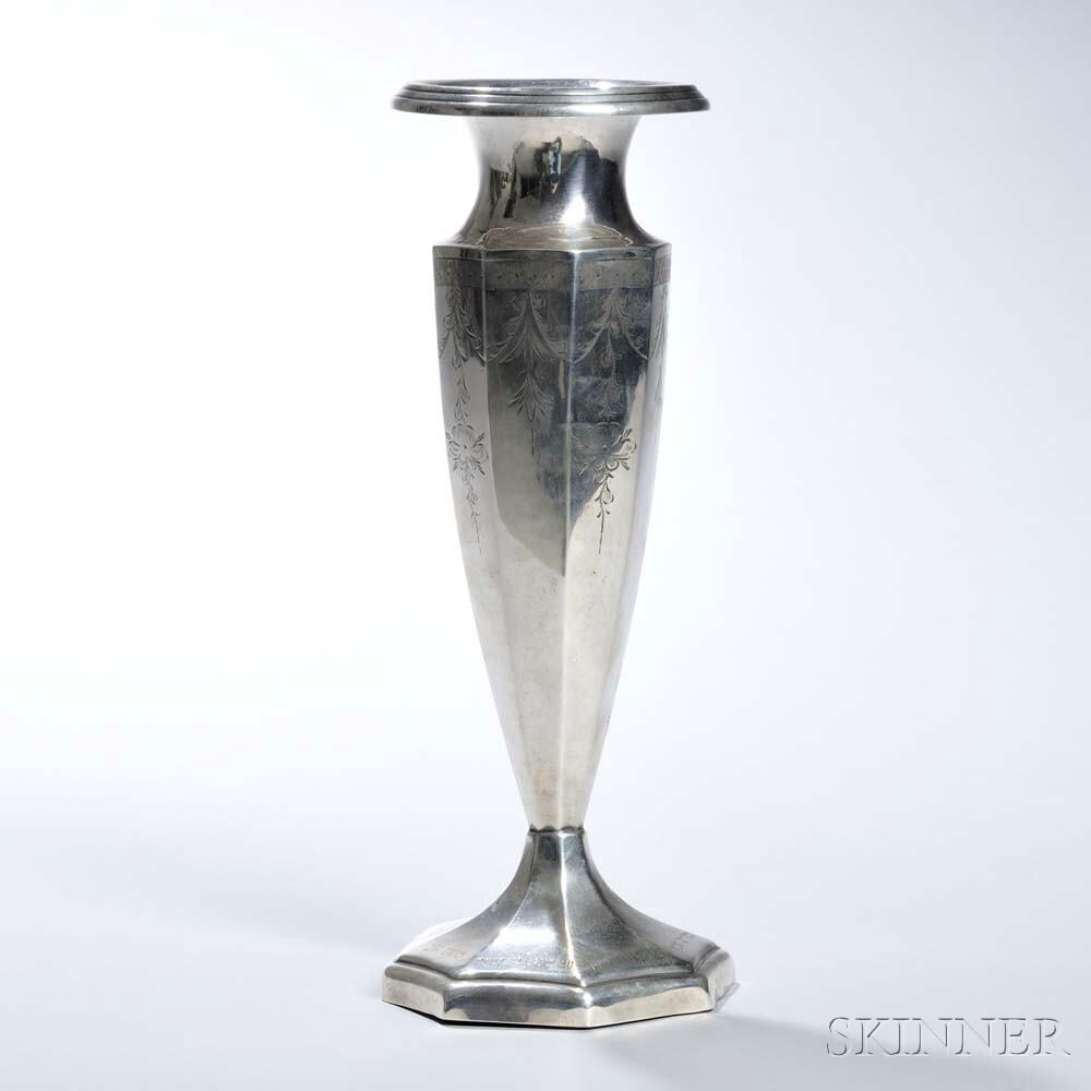 Victor Seidman Manufacturing Co. Sterling Silver Vase