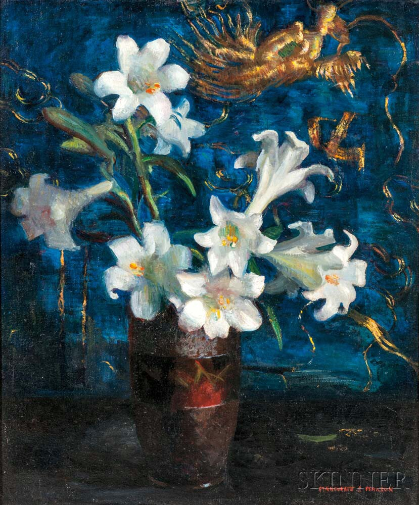 Marguerite Stuber Pearson (American, 1898-1978)      Still Life with White Lilies