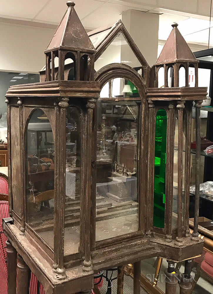Copper and Glass Cathedral-form Terrarium