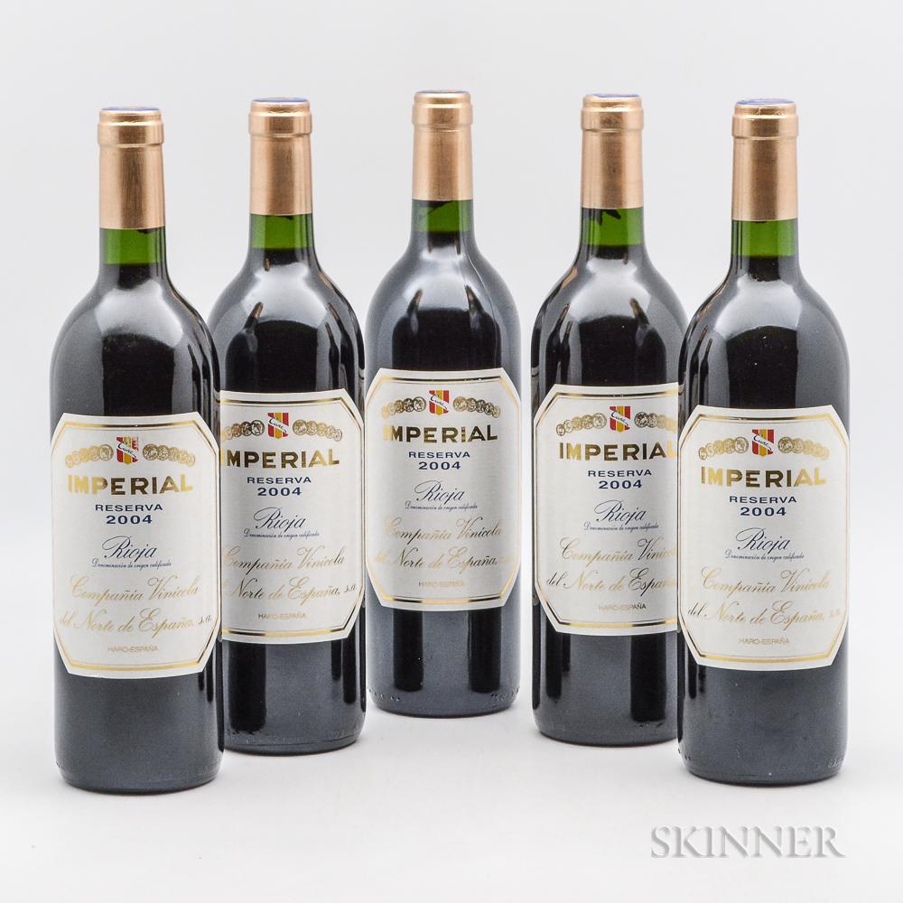 CVNE Imperial Reserva 2004, 5 bottles